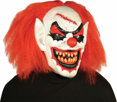 Morris Costumes Carver Horror Clown Creepy Forehead Latex Red Mask. MR031215 - Latex Clown