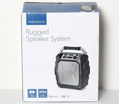 Insignia Ns Hmps3018 Bluetooth Wireless Usb Aux Portable Rugged Speaker System O