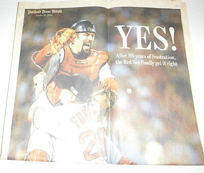 Portland Press Herald Magazine The Red Sox Finally Win October 2004 080914R
