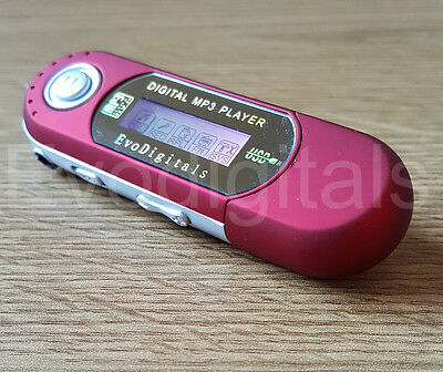 RED EVO 16GB MP3 WMA USB MUSIC PLAYER WITH LCD SCREEN FM RADIO VOICE RECORDER +