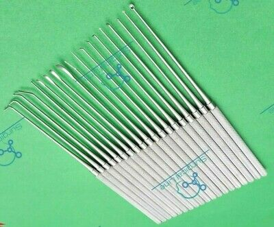High Quality Expanded Rhoton Micro Dissector Set Of 19 Neurosurgical Instruments
