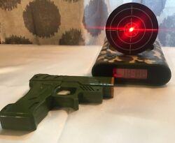 Gun Shooting Target Alarm Clock Fun Wake up Clock Toys Gift (Green Camo)