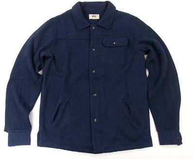 Lightning Bolt Insignia Blue Snap  Button Sweater Surf Bolt Cotton & Wool ()
