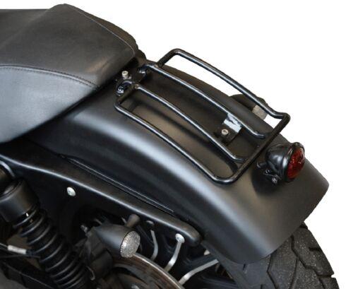 Buffalo Bag Schwarzer Gepäckträger 25x15cm Custom Bike Motorrad Gepäckhalter