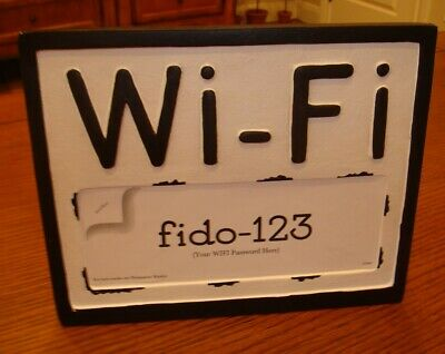 Better Homes Gardens - Wi-fi Tabletop Sign - New Blackwhite Resin