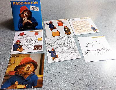 PADDINGTON BEAR activity set Puzzle Stickers Coloring sheet Maze