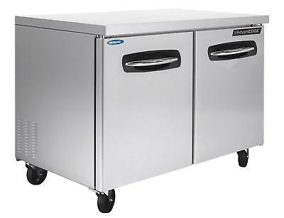 Nor-lake Nluf48a 48in Stainless Steel Two Door Reach In Undercounter Freezer