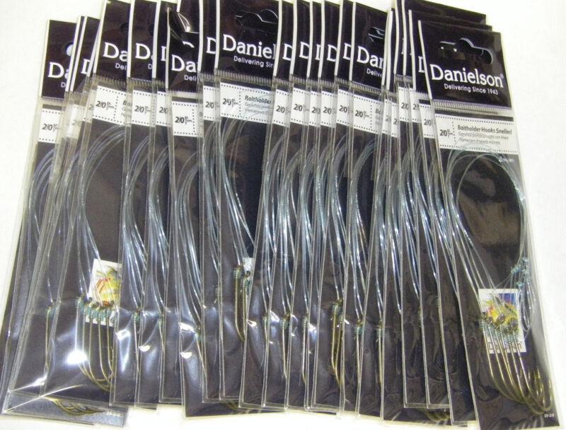 Danielson Snelled Baitholder Hooks Bronze 24 pks Size 2/0  Wholesale Fishing Lot