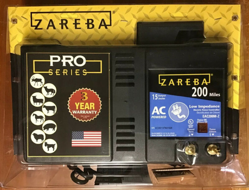 Zareba Pro Series 15 J Output 200 mile AC powered Fence Energizer - 085868200137