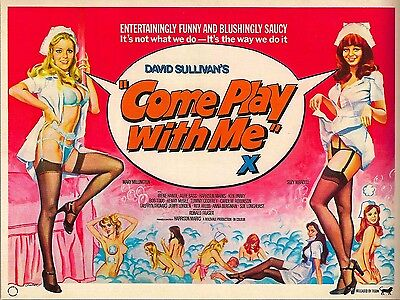 """Come Play with Me 1977 16"""" x 12"""" Reproduction Movie Poster Photograph"""