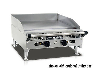 American Range Aemg-24 24rdquo Heavy Duty Manual Griddle With Stainless Steel