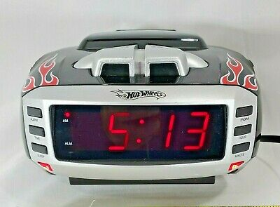 Emerson HW800 Hot Wheels Alarm Clock Radio tested  works great