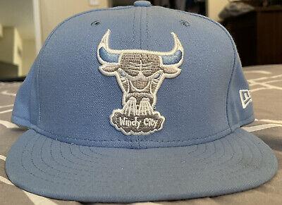 New Era 59fifty Chicago Bulls Windy City Hat Sz 7 1/8