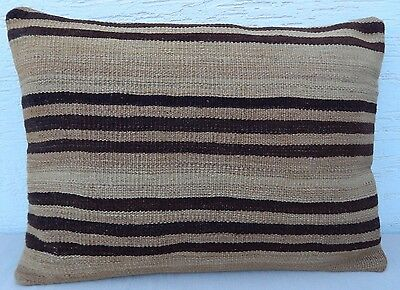 28 X20 Woven Shabby Chic Decorating Kilim Lumbar Pillow Cover