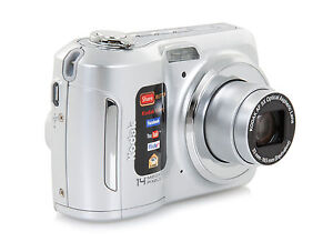 NEW Kodak EasyShare C195 14MP Digital Camera Silver 5x Optical Zoom 3