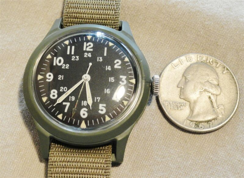 Vietnam US Military Issued 1965 Benrus Watch - good running condition