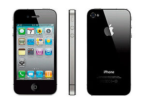 Apple iPhone 4 - 16GB - Black (FACTORY UNLOCKED) Smartphone (B)