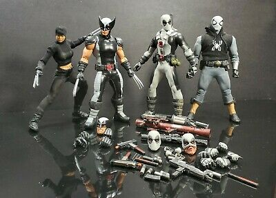 Mezco one 12 X Force Lot (Modifications and 2 Custom Figures)