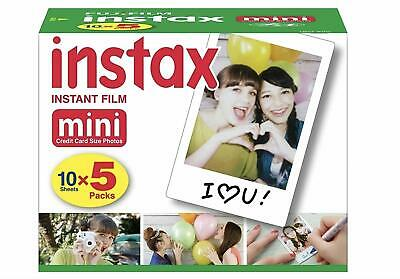 50 Prints Fujifilm Instax Mini Instant Film for 8-9 and all Fuji Mini Camera NEW