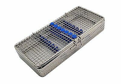Dental Stainless Steel Sterilization Cassette For 7 Pieces Mesh Tray Box