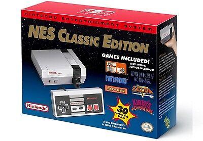 Nintendo Entertainment System Nes Classic Edition Mini  Clone  White  30 Games