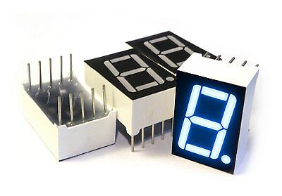 10pcs 0.56 Inch 1 Digit Blue Led Display 7 Segment Common Cathode S3