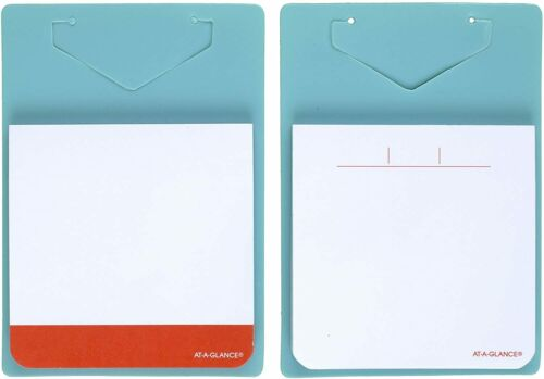At-a-Glance Clip-On Adhesive Notes, 2.75 x 2.75, Blue, 2 Pack, 200 Sheets Total