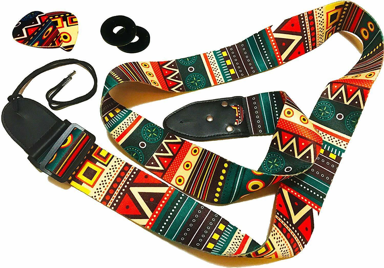 guitar strap vintage aztec colors strap includes