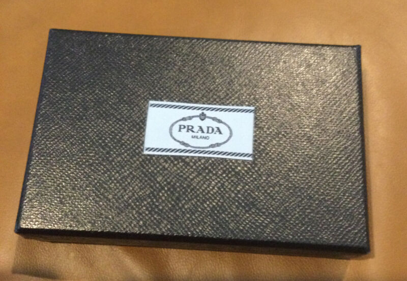 Authentic Prada gift box and nylon bag with prada tissue paper New