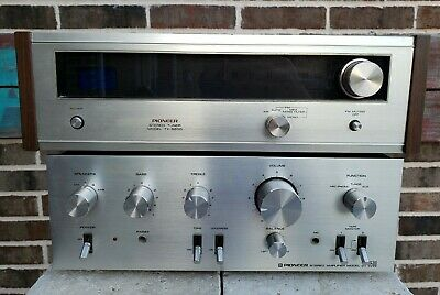 VINTAGE silver PIONEER SA-6500 AMPLIFIER +TX-6200  AM-FM TUNER - SOUNDS GREAT