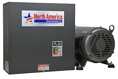 PL-20 Pro-Line 20HP Rotary Phase Converter - Built-In Starter, Made In USA