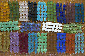 Small-Flat-Freeform-Frosted-Matte-Beach-Sea-Glass-Beads-You-Pick-The-22-Colors