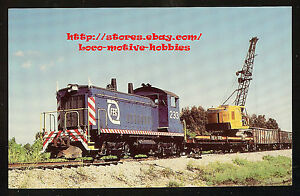 Postcard-FLORIDA-EAST-COAST-Maintenance-Way-SW1200-FEC-233-Work-MOW-CRANE-Train