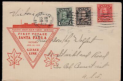 FIRST VOYAGE - SANTA PAULA -1933- VICTORIA, BC - ARCH COIL #'s - 179, 182 & 183