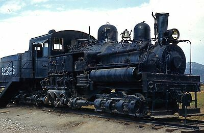 Rayonier Incorporated Lima Steam Shay 10   Forks Wash In 1961 Original Slide