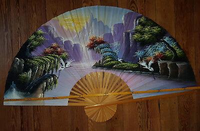 Gebraucht, Dekorations Fächer für die Wand, handbemalt offen ca.1m 50cm gebraucht kaufen  Zaberfeld