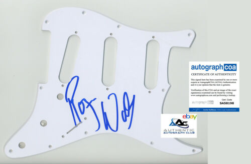 ROGER WATERS AUTOGRAPH SIGNED PICKGUARD SCRATCHPLATE PINK FLOYD ACOA