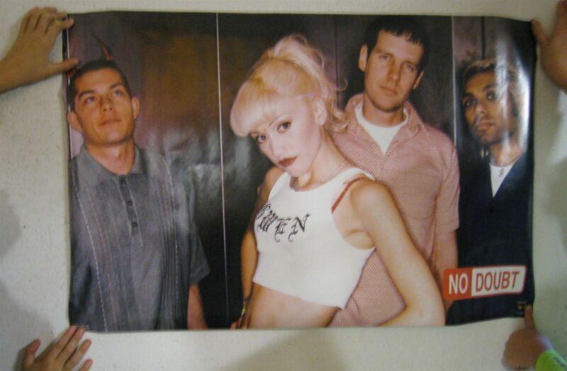 No Doubt Poster Band Shot Gwen Stefani White