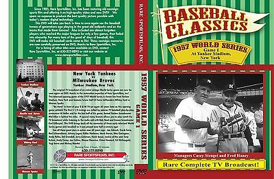 - 1957 World Series Complete Game 1 TV Broadcast, Yankee Stadium, Spahn vs Ford!