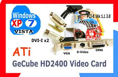 DUAL Monitor PCI-e 16 Video-Card. .  +DRIVER CD