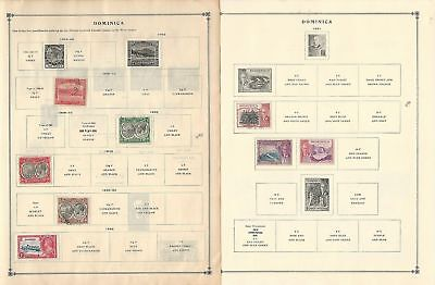 Dominica Collection 1883-1963 on 6 Scott International Pages