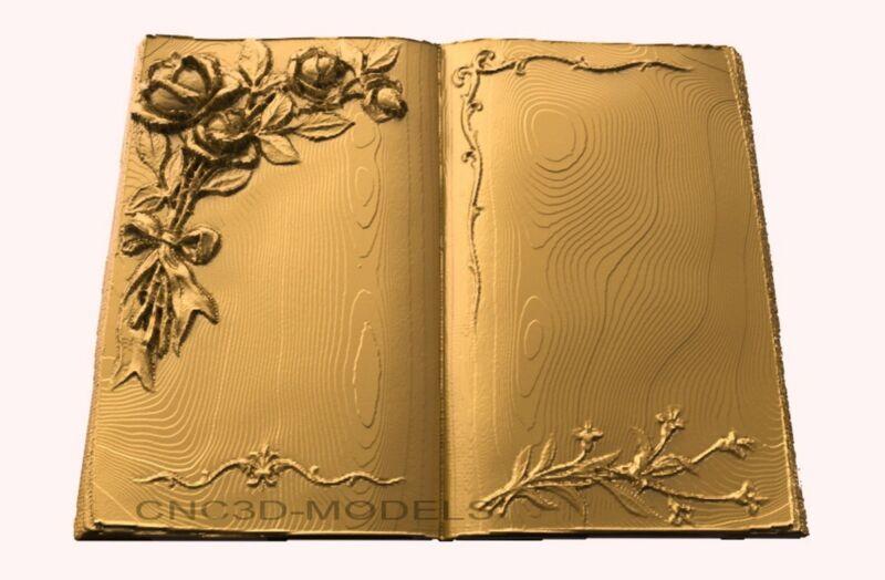 3D Model STL for CNC Router Engraver Carving Artcam Aspire Book Decor Pano 1868