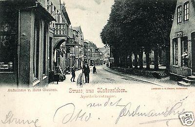 14566/ Foto AK, Gruss aus Hadersleben, Apothekerstrasse, 1903