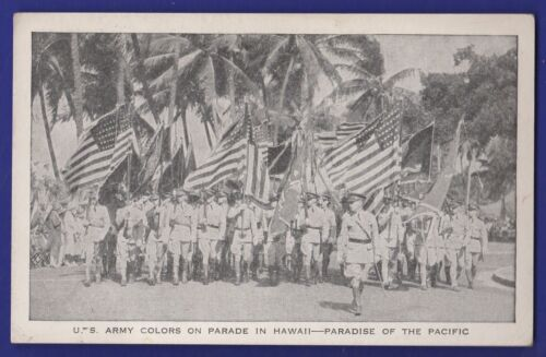 US Army Colors on Parade in Hawaii Paradise of the Pacific Recruiting Service