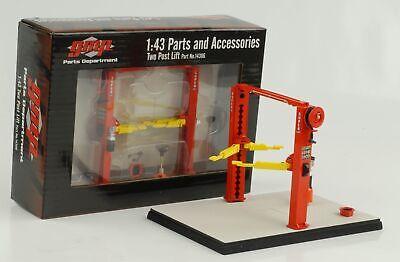 Hebebühne variabel Lift 2 Säulen mit Zubehör rot 1:43 GMP Diorama