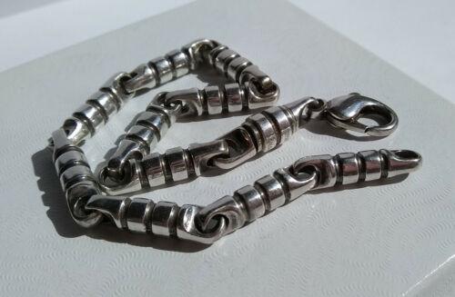 Vintage, Tiffany & Co Paloma Picasso Modernist Barrel Ridged Links Bracelet