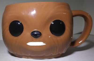 Funko Pop! Star Wars Chewbacca Coffee Mug 8 FL OZ Brown Cup Wookiee Warrior 2016