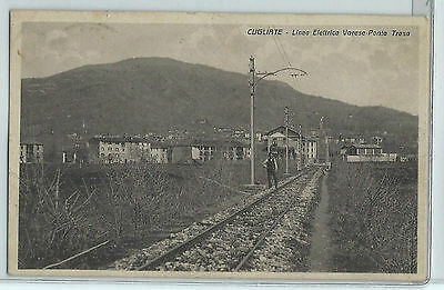CARTOLINA 1939 CUGLIATE LINEA ELETTRICA VARESE-PONTE TRESA 858/A