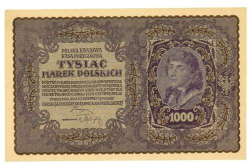 Poland ... P-29 ... 1000 Marek ... 1919 ... Gem *UNC*.