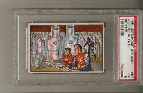 "1951 ""Jets, Rocket, Spaceman"" Bowman ""#87"" card PSA 5 Graded & Encapsulated"